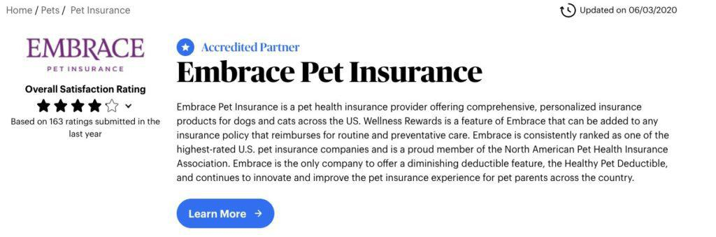 Embrace Pet Insurance Review