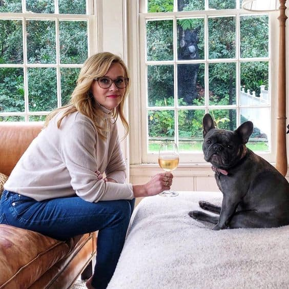 Reese Witherspoon French Bulldog